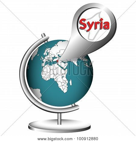 Illustration Vector Graphic Globe Syria