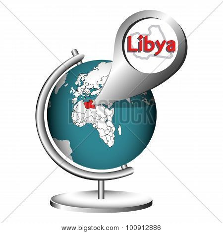 Illustration Vector Graphic Globe Libya