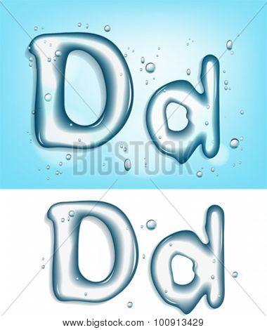 Alphabet water letter D