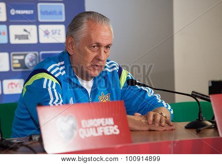 Soccer Team Head Coach Mykhailo Fomenko
