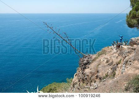 Seascape From Viewpoint On Cliff In Tossa De Mar, Spain.