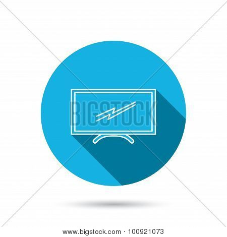 Lcd tv icon. Led monitor sign.