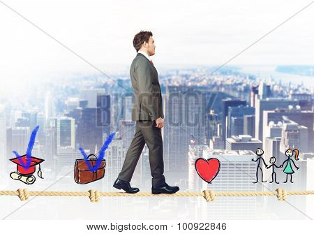 Stages of successful businessman
