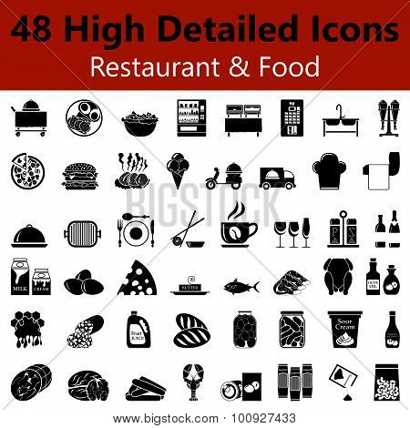 Restaurant And Food Smooth Icons