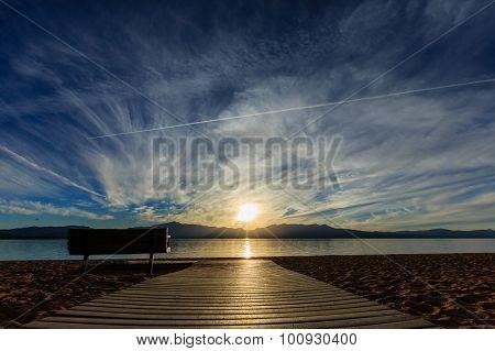 Sunset At Navada Beach, Lake Tahoe