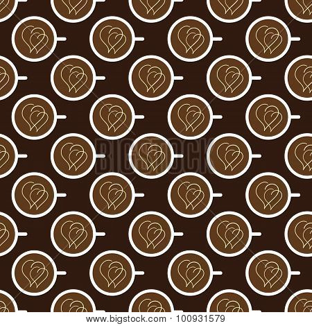 Pattern With Coffee Cups