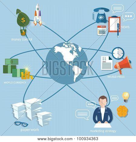 Business World Concept, Startup Busines