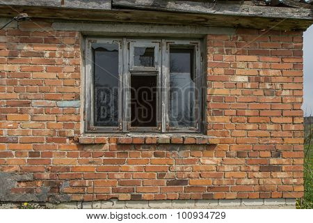 Window In Old Mansion Building