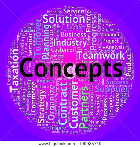 Concepts Word Means Wordcloud Invention And Hypothesis