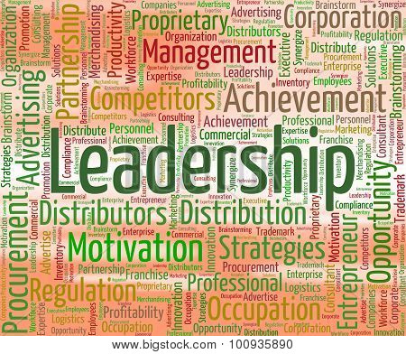Leadership Word Shows Directing Manage And Management