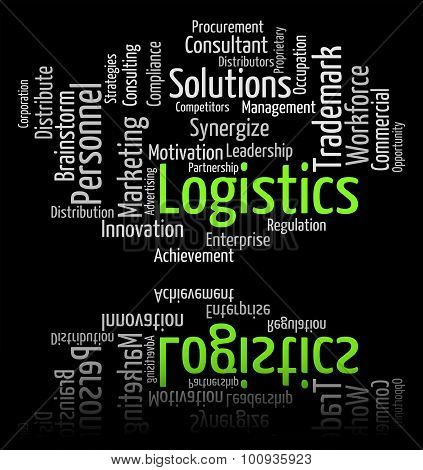Logistics Word Represents Systemization Words And Analyze
