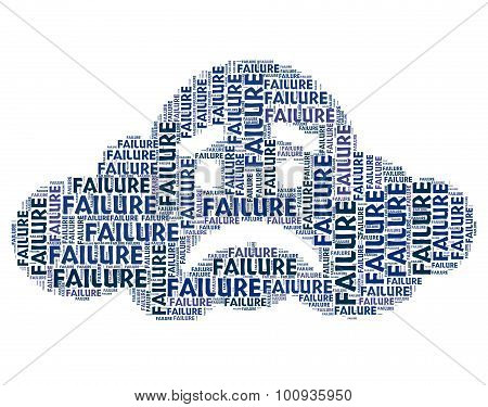 Failure Word Represents Lack Of Success And Defeat