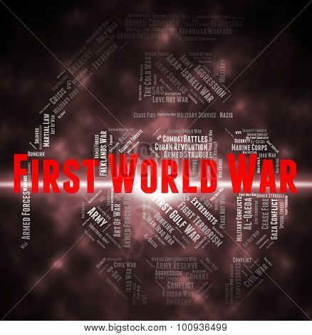 First World War Indicates Triple Alliance And Europe