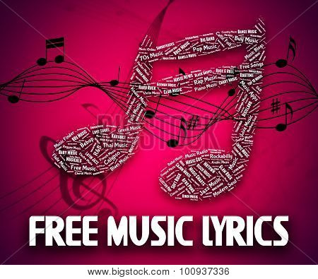 Free Music Lyrics Means With Our Compliments And Gratis
