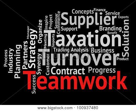 Teamwork Word Represents Text Teams And Networking