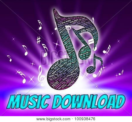 Music Download Shows Sound Tracks And Application