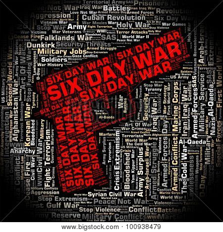 Six Day War Indicates Arab Israeli And Egypt