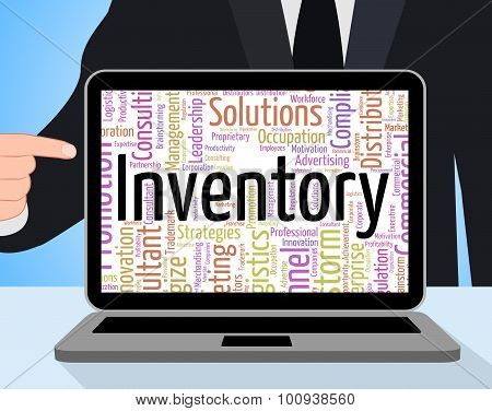 Inventory Word Shows Logistic Supply And Product