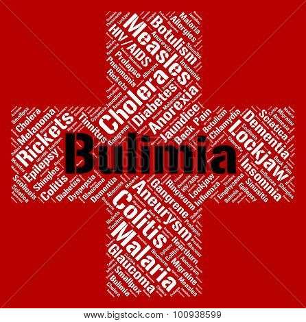 Bulimia Word Means Binge Vomit Syndrome And Affliction