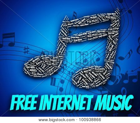 Free Internet Music Means Sound Track And Web