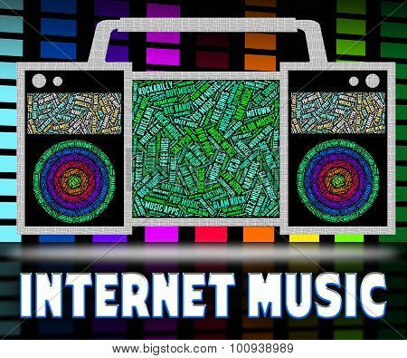 Internet Music Indicates World Wide Web And Acoustic
