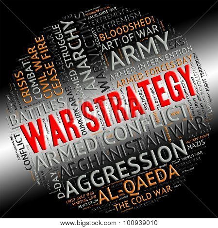 War Strategy Means Military Action And Battle