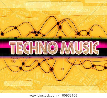 Techno Music Shows Electric Jazz And Audio