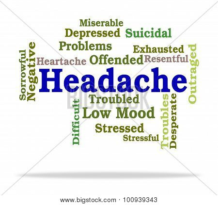 Headache Word Means Wordcloud Migraines And Cephalalgia