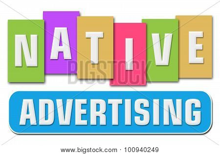 Native Advertising Colorful Stripes