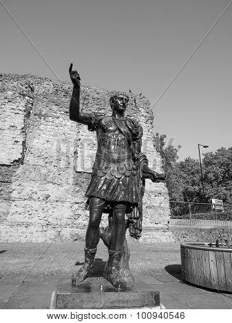 Black And White Trajan Statue In London
