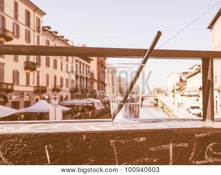 Retro Looking Naviglio Grande Milan