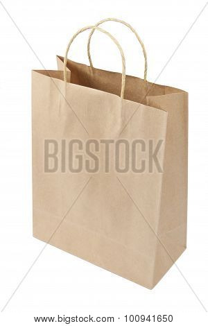Empty Shopping Bag From Craft Paper