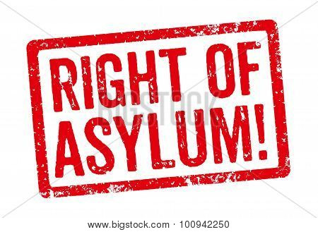 Red Stamp - Right Of Asylum