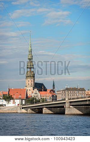 St Peters Church In Riga, Latvia