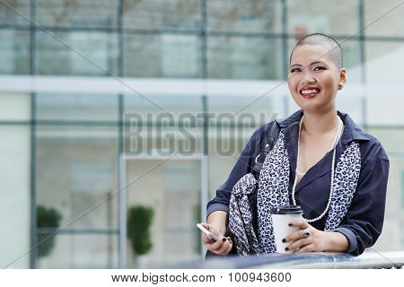 Stylish business lady
