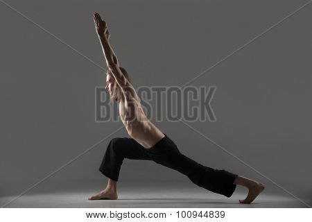 Variation Of Virabhadrasana 1 Yoga Pose