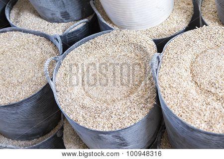 Barley Baskets Background.