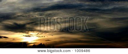 Incredible Sunset  Panoramic View