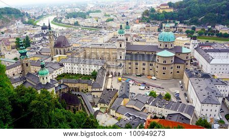 Scenery Of Salzburg Old Town City