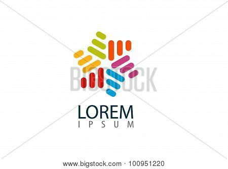 Colorful Abstract Icon. Creative Infinity Shape For Your Company. Trendy Business Concept. Vector Il