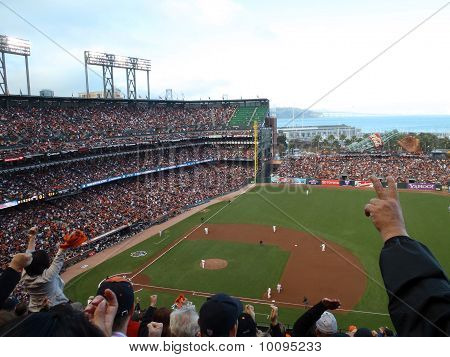 Giants Fans Cheer For Inning Ending Strikeout By Madison Bumgarner