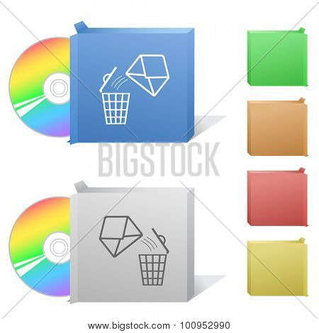 open mail with bin. Box with compact disc.