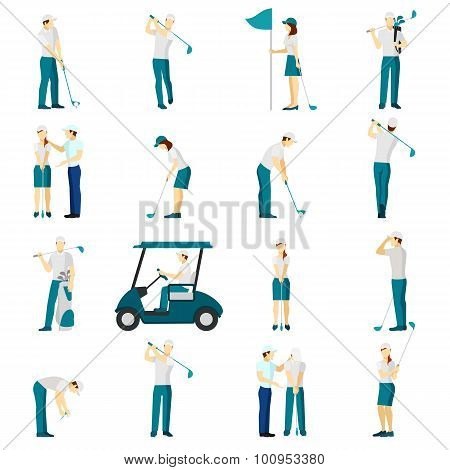 Golf People Flat Set