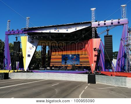 Main Stage During Riga City Festival