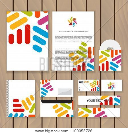 Creative Coloful Infinity Corporate Identity. Trendy Business Concept With Logo Design Template. Vec