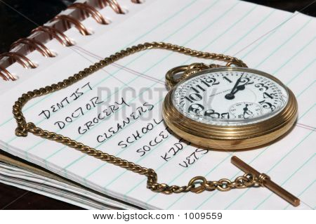 To Do List And Pocket Watch