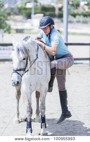 Man Gets On The Horseback.