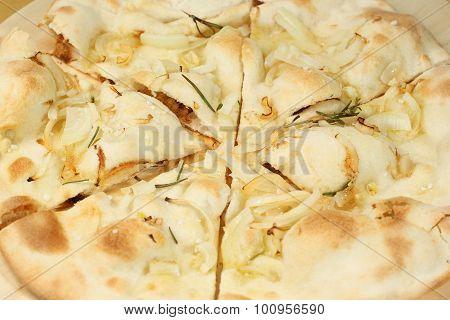 Plain Cauliflower Pizza Crust Filled