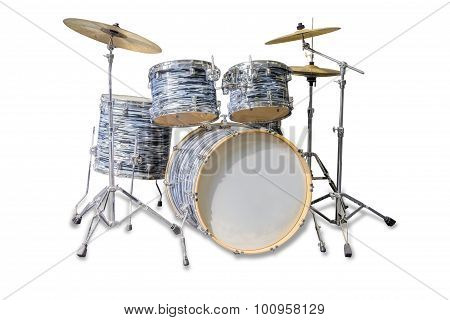 Drum Kit On A Light Background