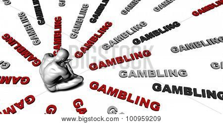 Suffering From Gambling with a Victim Crying Male